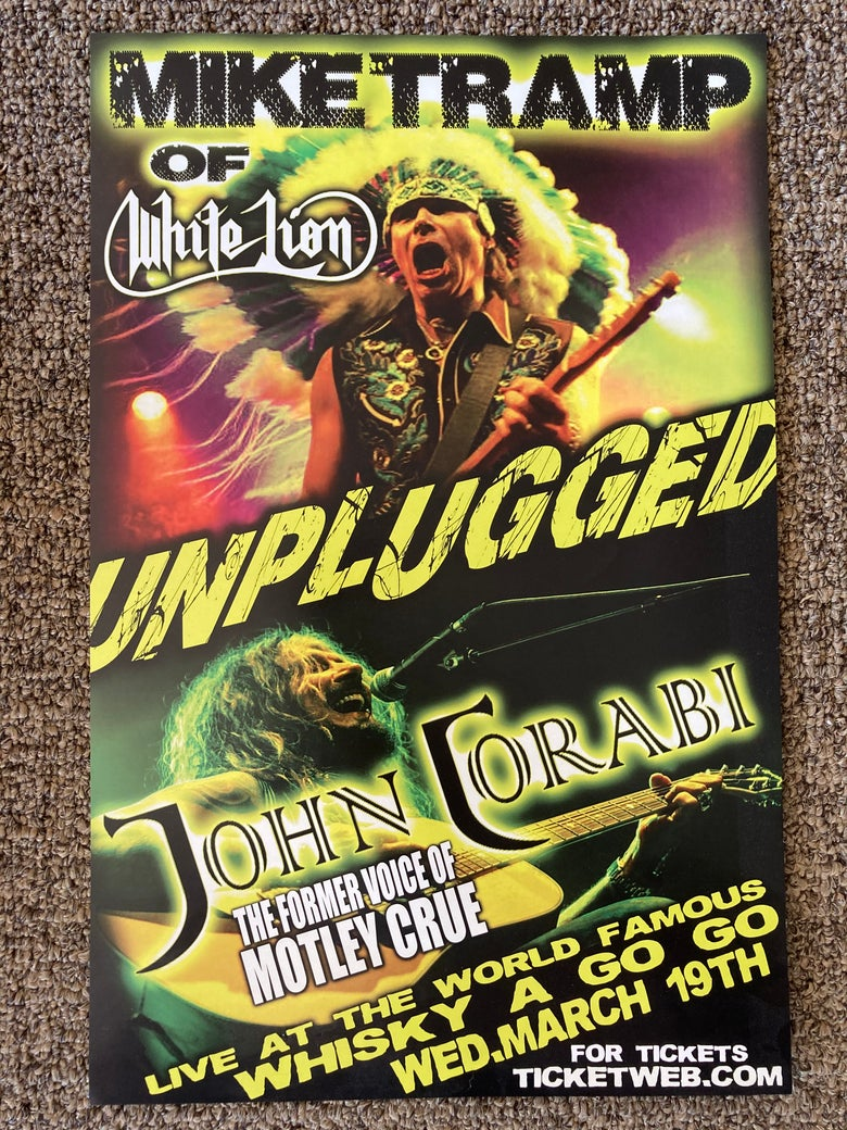 Image of Mike Tramp John Corabi wall poster/flyer Whisky-A-Go-Go White Lion Motley Crue