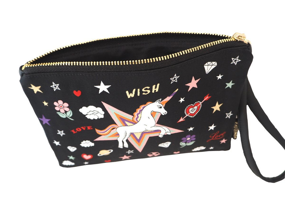 Unicorn Wish Woven Wristlet Clutch Bag (2 colours)
