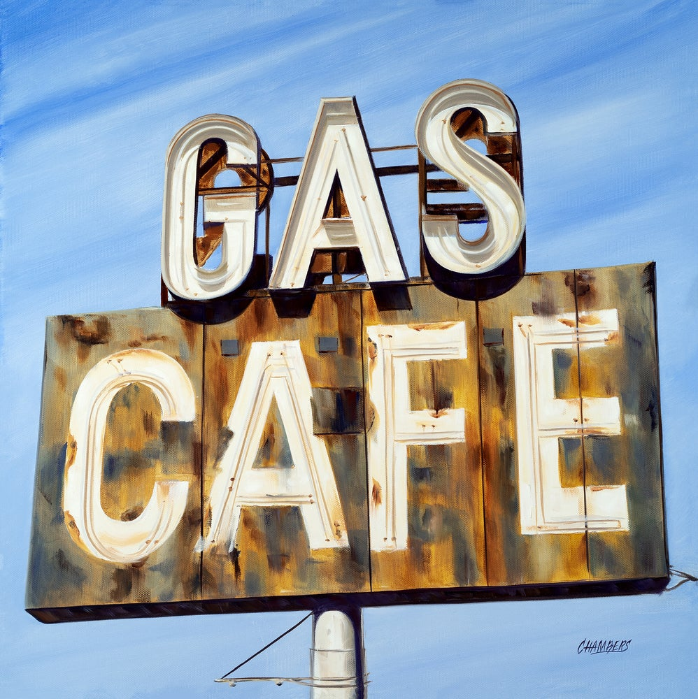 Image of Gas Cafe  ( Giclee Print)