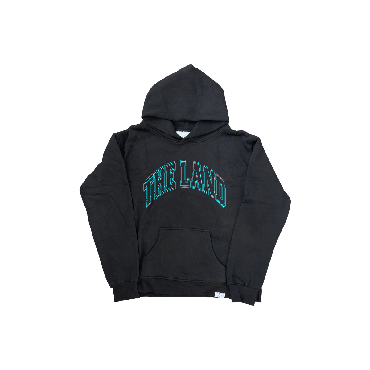 "Premium Collection ""The Land"" Black/Turquoise Hoodie"