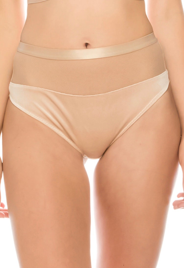 Image of #Cream Velvette Highwaist Thong