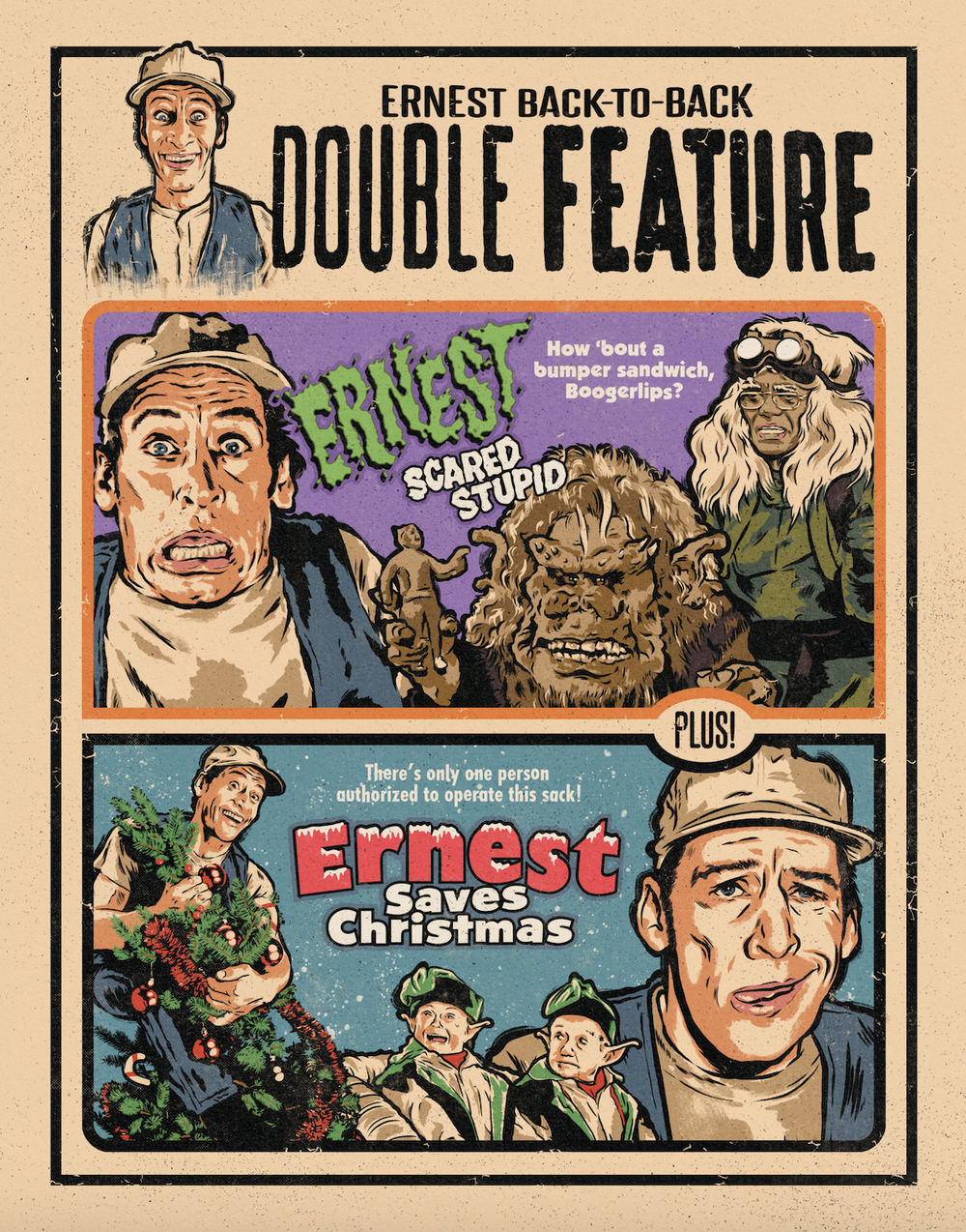 Ernest Double Feature – 11x14 Print