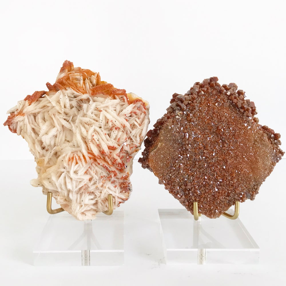 Image of Vanadinite no.79 + Lucite and Brass Stand