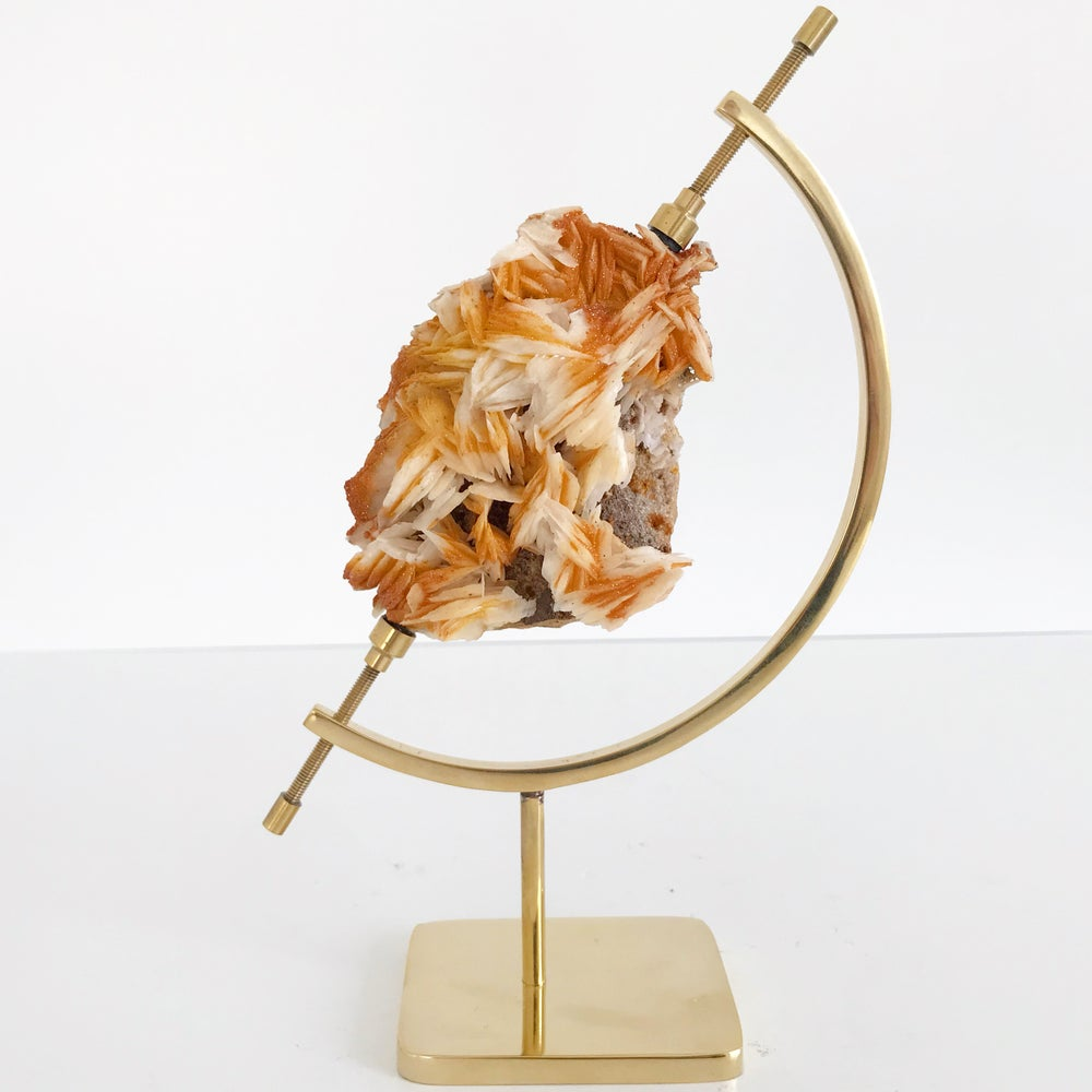 Image of Vanadinite/Barite no.53 + Brass Arc Stand