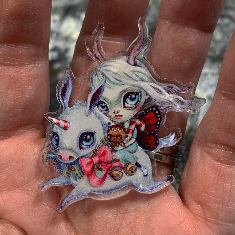Image of Holidonkey (Acrylic Pin)