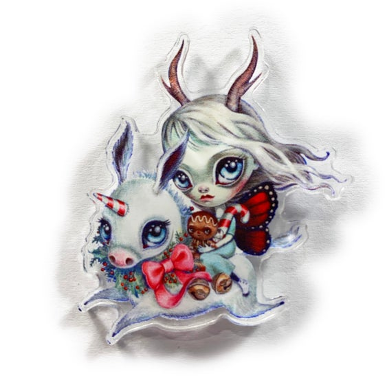 Image of Holidonkey (Acrylic Pin)