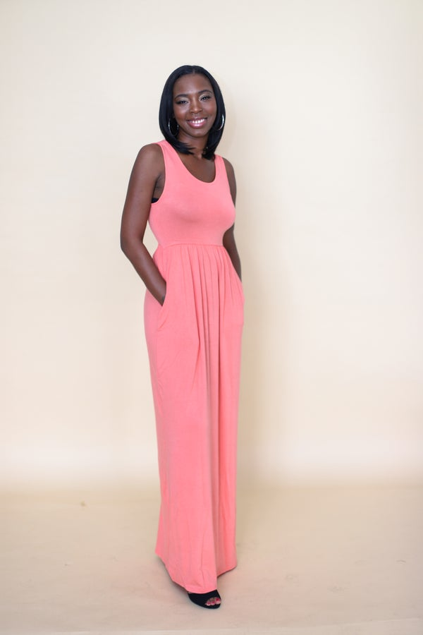 Image of Hautie Coral Long Maxi