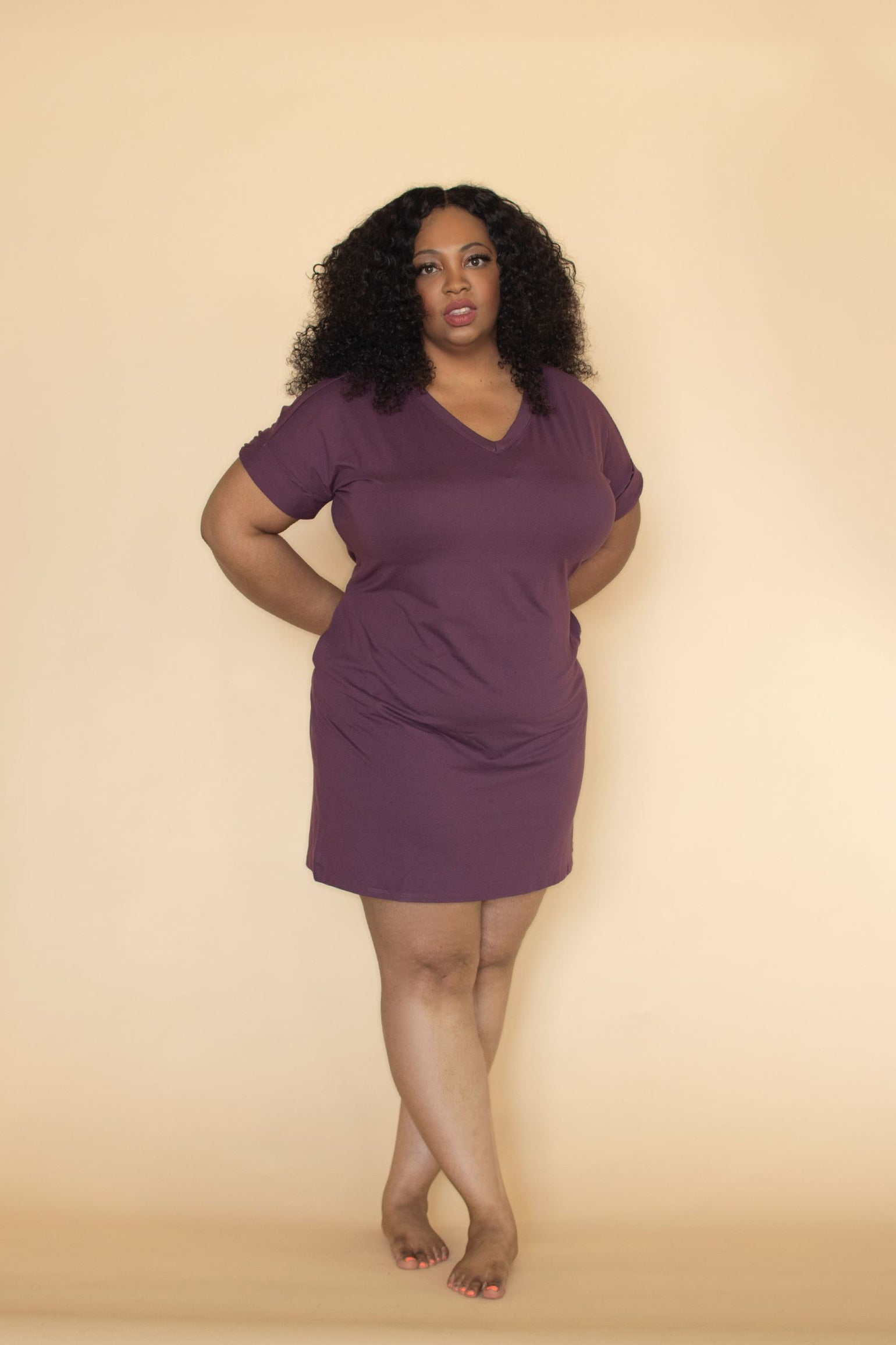 Image of Hautie Plum Short Dress