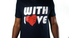 WITH LOVE T - NAVY BLUE