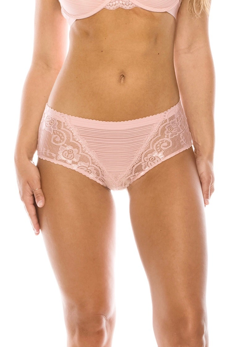 Image of #Pretty Stripe & Lace Bikini Panties