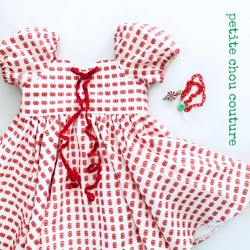 Image of Clip dot holiday dress