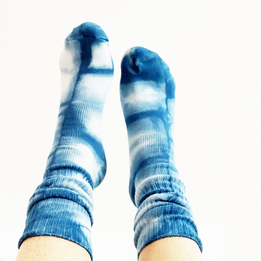 Image of Indigo Dyed Socks