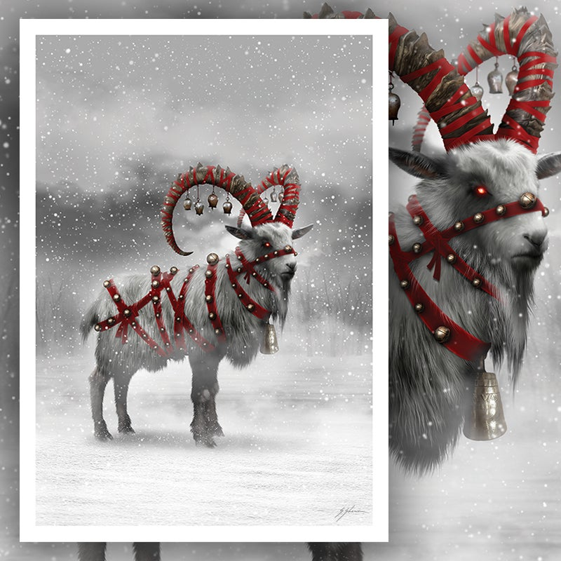 "The Yule Goat 12"" X 17"" Print"