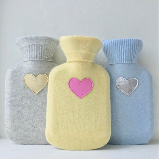 Image of Pure Cashmere Mini Heart Hot Water Bottle