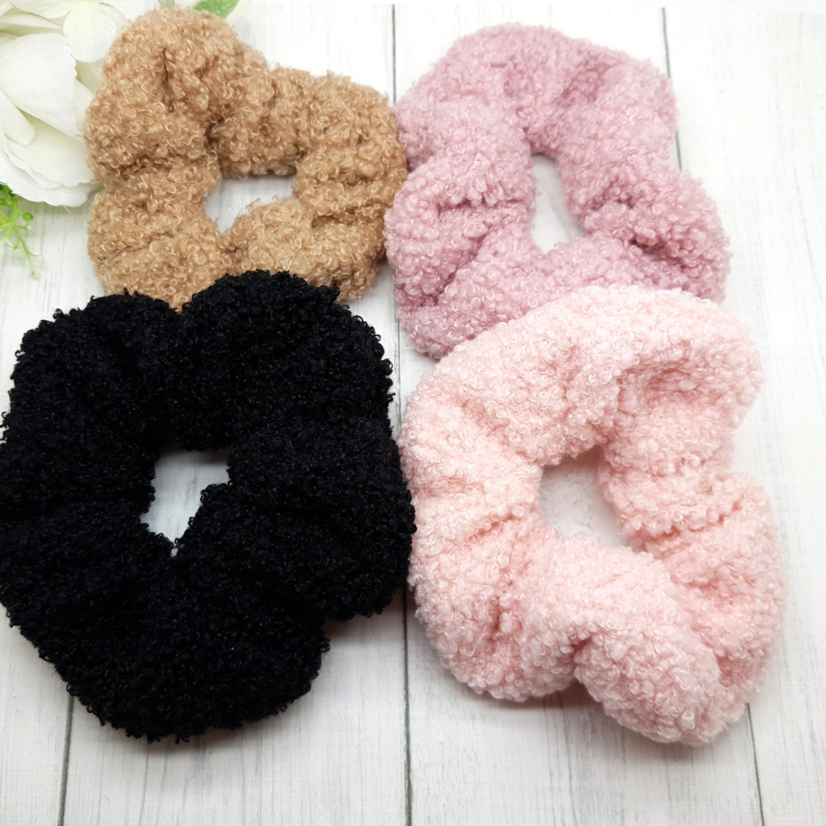 Image of Teddy Bear Scrunchies - Choice of 4 Colours