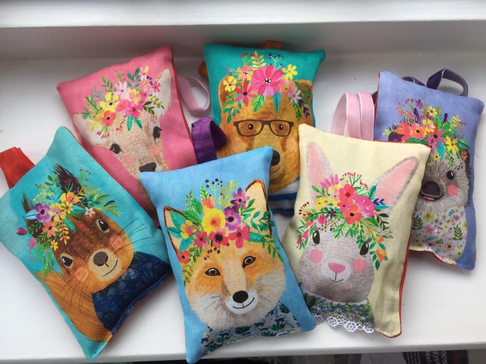 Image of Floral Forest Animal Lavender Bags