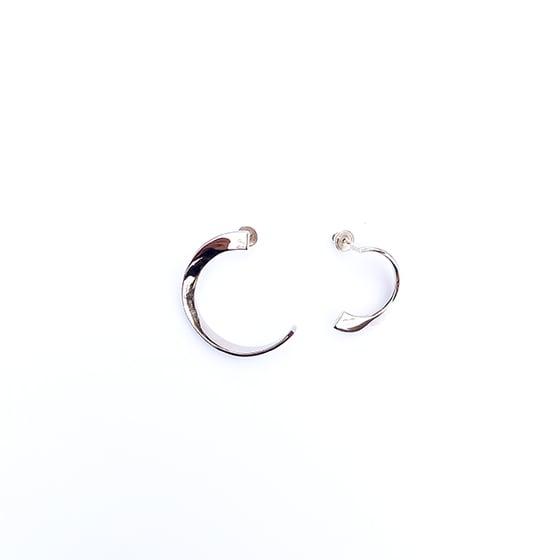 Image of SILVER HOOPS EARRINGS