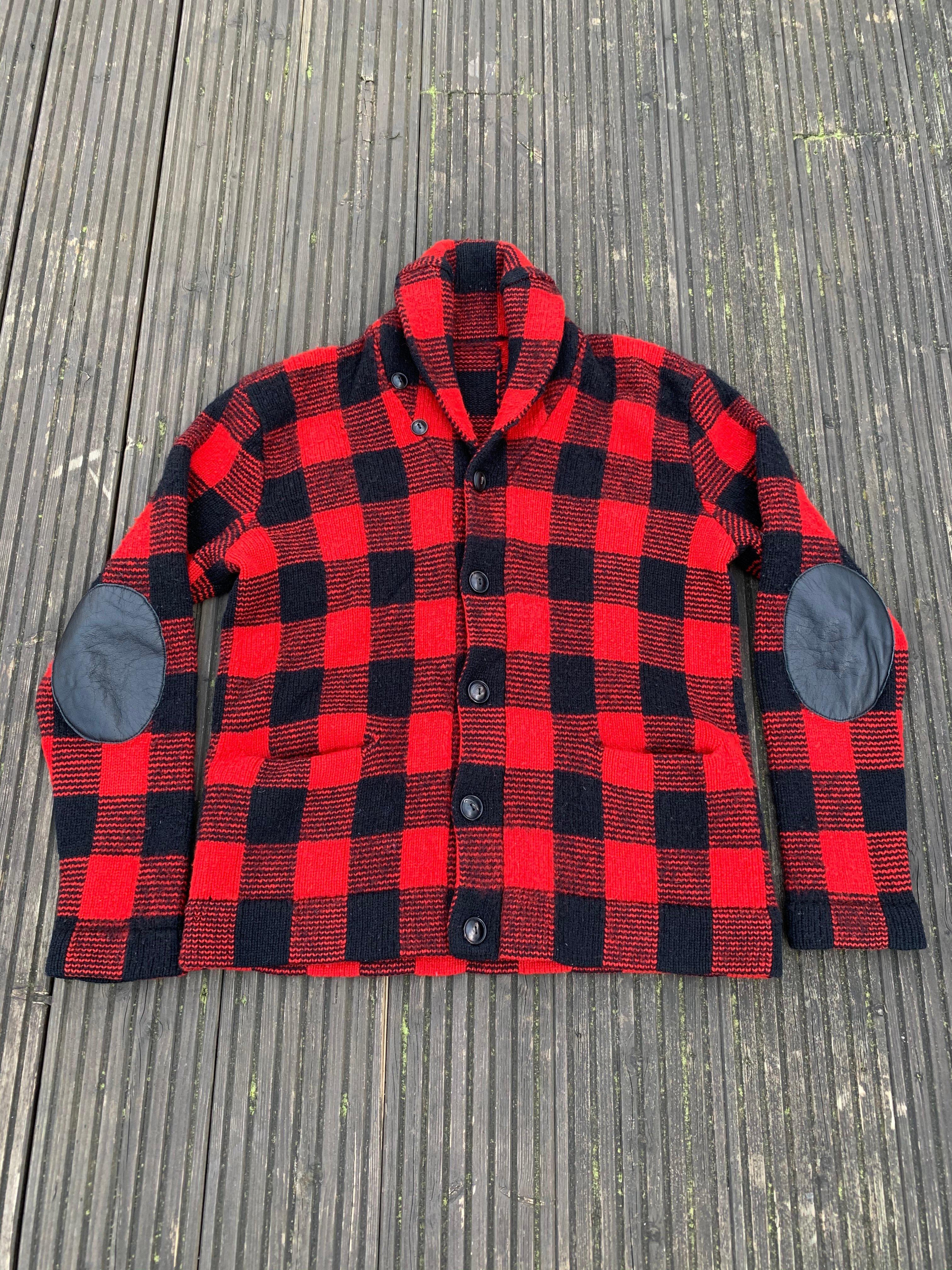 Image of Old wool shawl collar cardigan