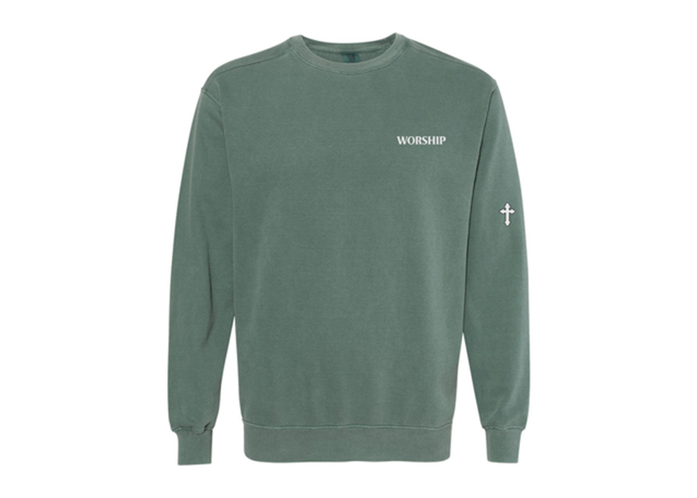 Image of Midnight Green Embroidery Sweatshirt