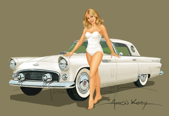 Image of Suzanne Somers T-Bird print