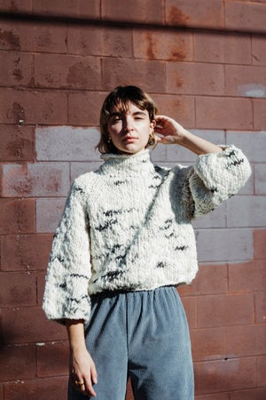 Image of Faro Sweater of Targhee & Alpaca spun wool