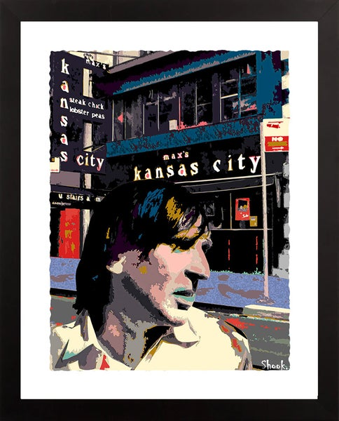 "Image of Max's Kansas City NYC Giclée Art Print - 11"" x 14"""