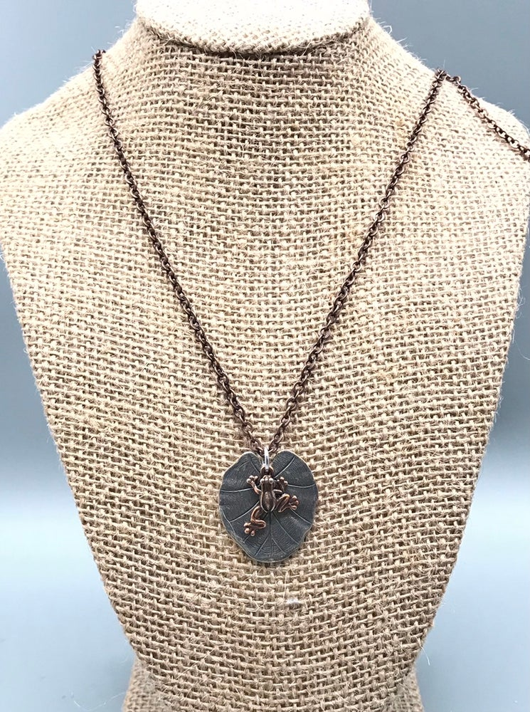Image of Lily Pad Frog Necklace