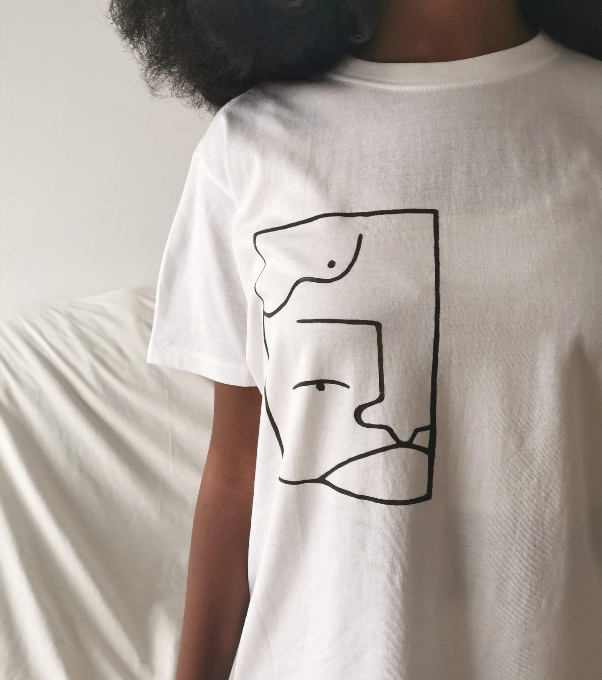 Image of white AJ Tshirt