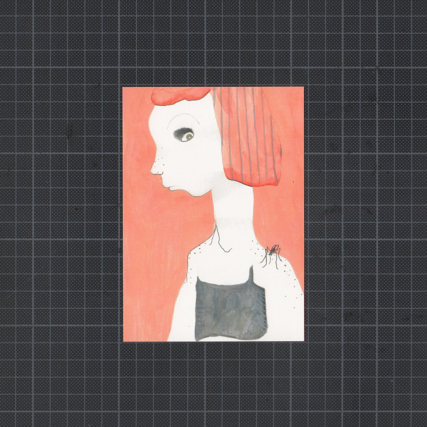 Image of A6 Print: Redhead & Mosquito