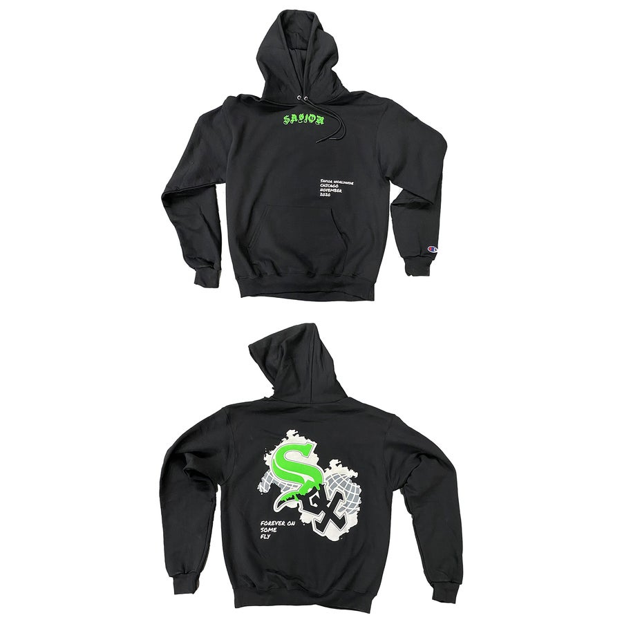 Image of SAVIOR WHITE SOX WORLDWIDE HOODIE