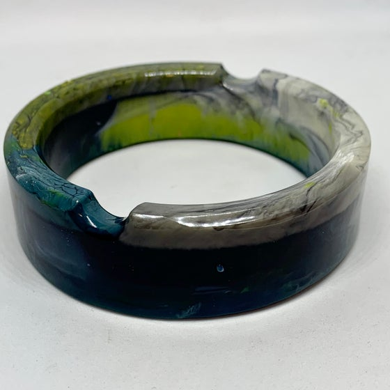 Image of Ashtray Bracelet Teals Greens Greys