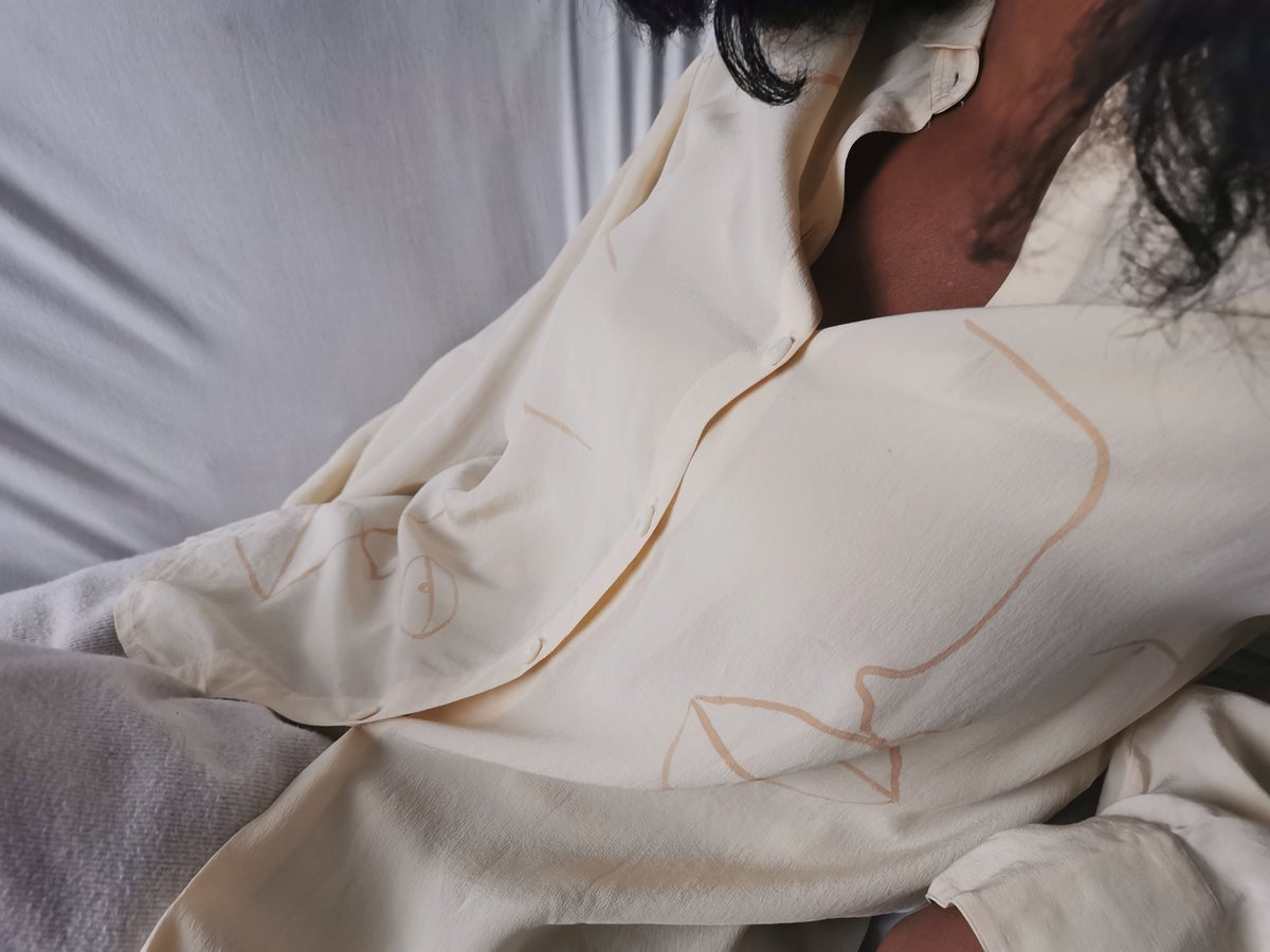 Image of round collar blouse
