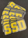 SSD Die Cut logo sticker -4 inches wide