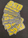 SSD Die Cut logo sticker -3 inches  wide