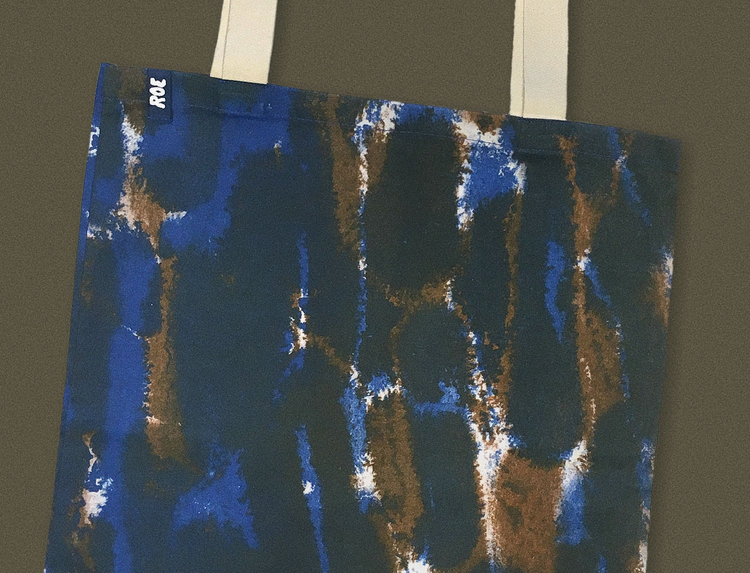Image of BLUE AND BROWN INK BAG