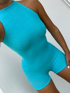 Image of Neon Blue Tank Unitard