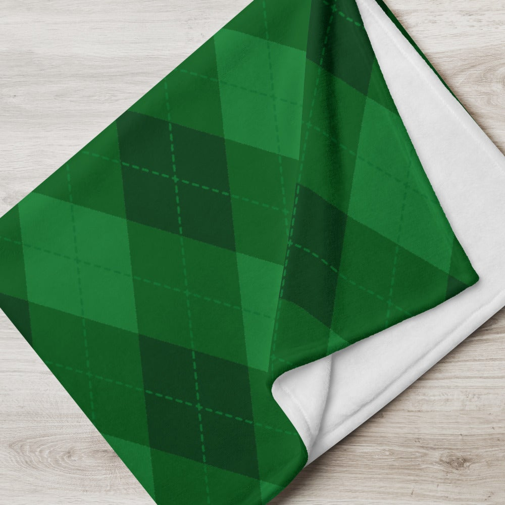 Image of Argyle Plaid Throw Blanket