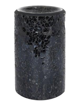 Image of BLACK CRACKLE PILLAR OIL BURNER