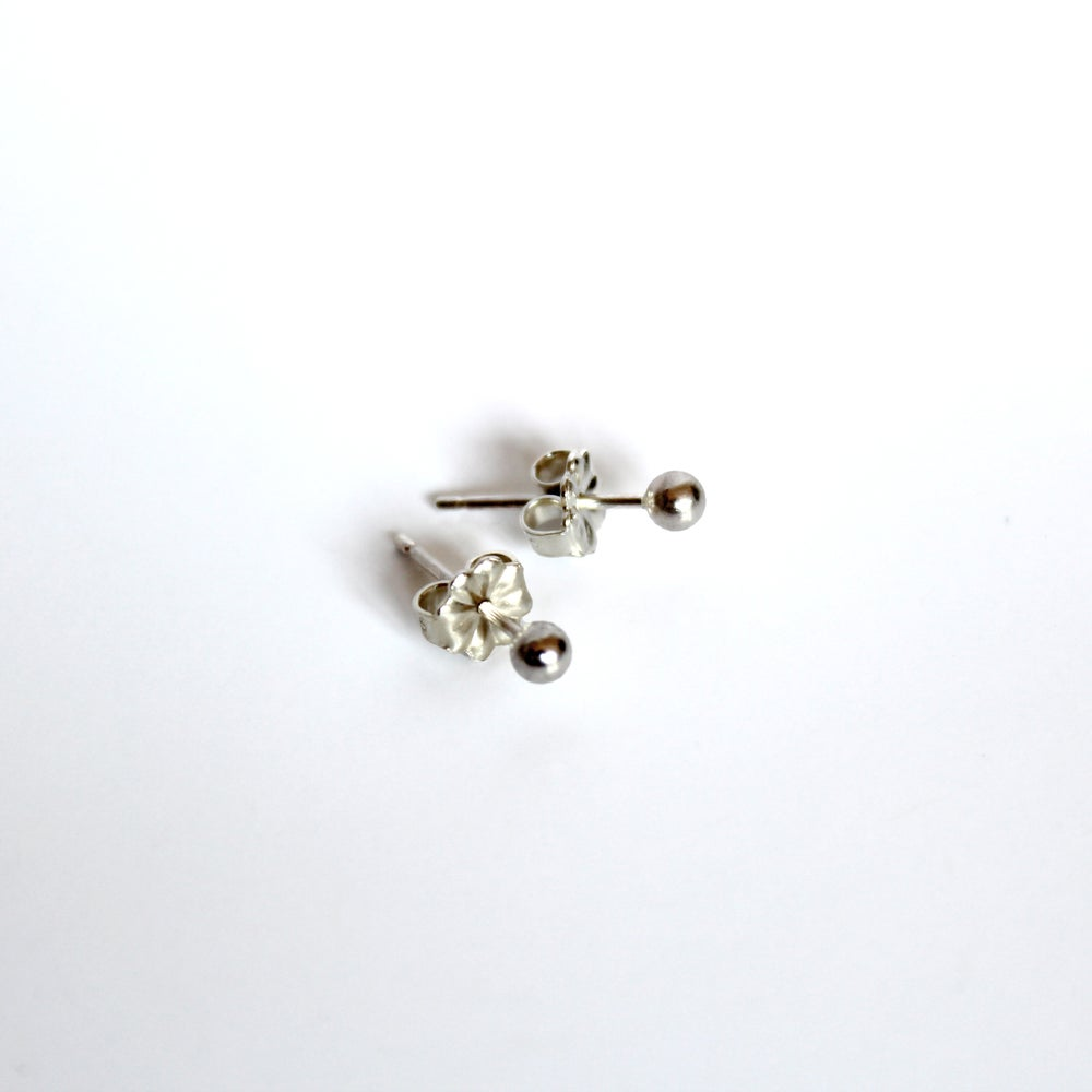 Lil' Ball Sterling Silver Earrings