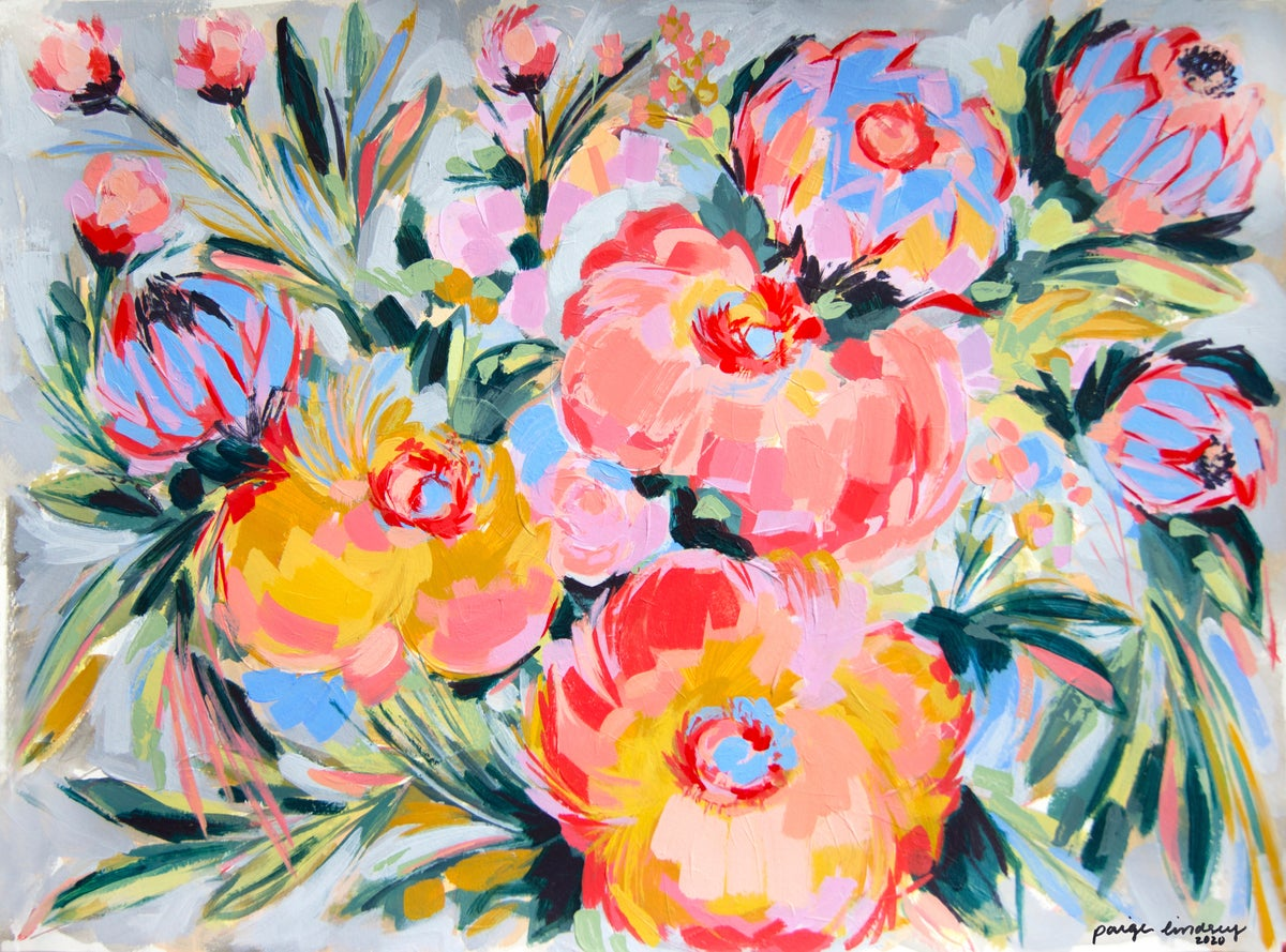 Image of Bright Abstract Flower Print