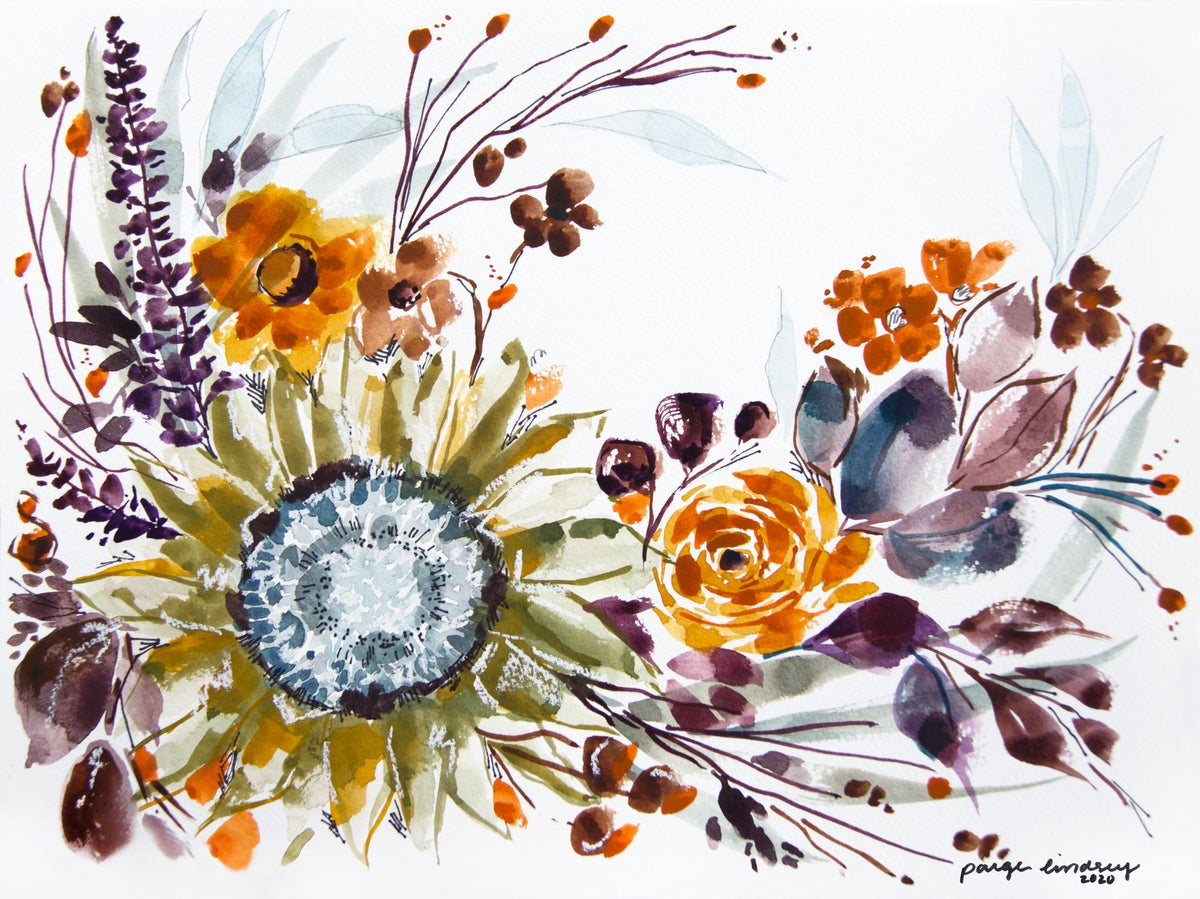 Image of Sunflower Bouquet Print