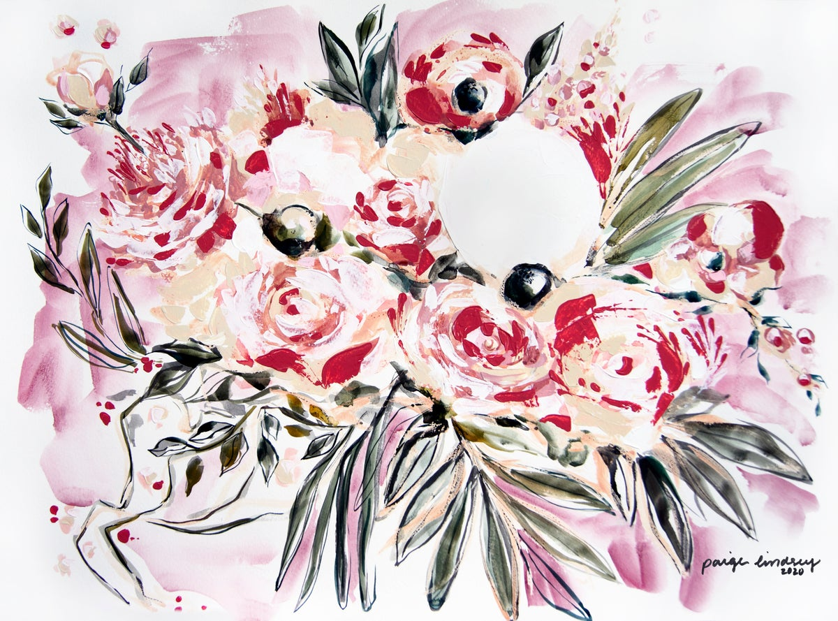 Image of Dusty Rose Flower Print