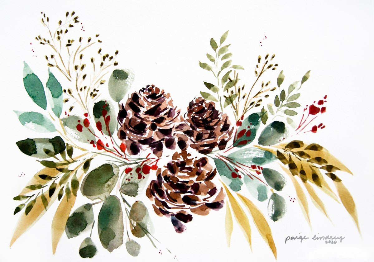 Image of Pinecone Print