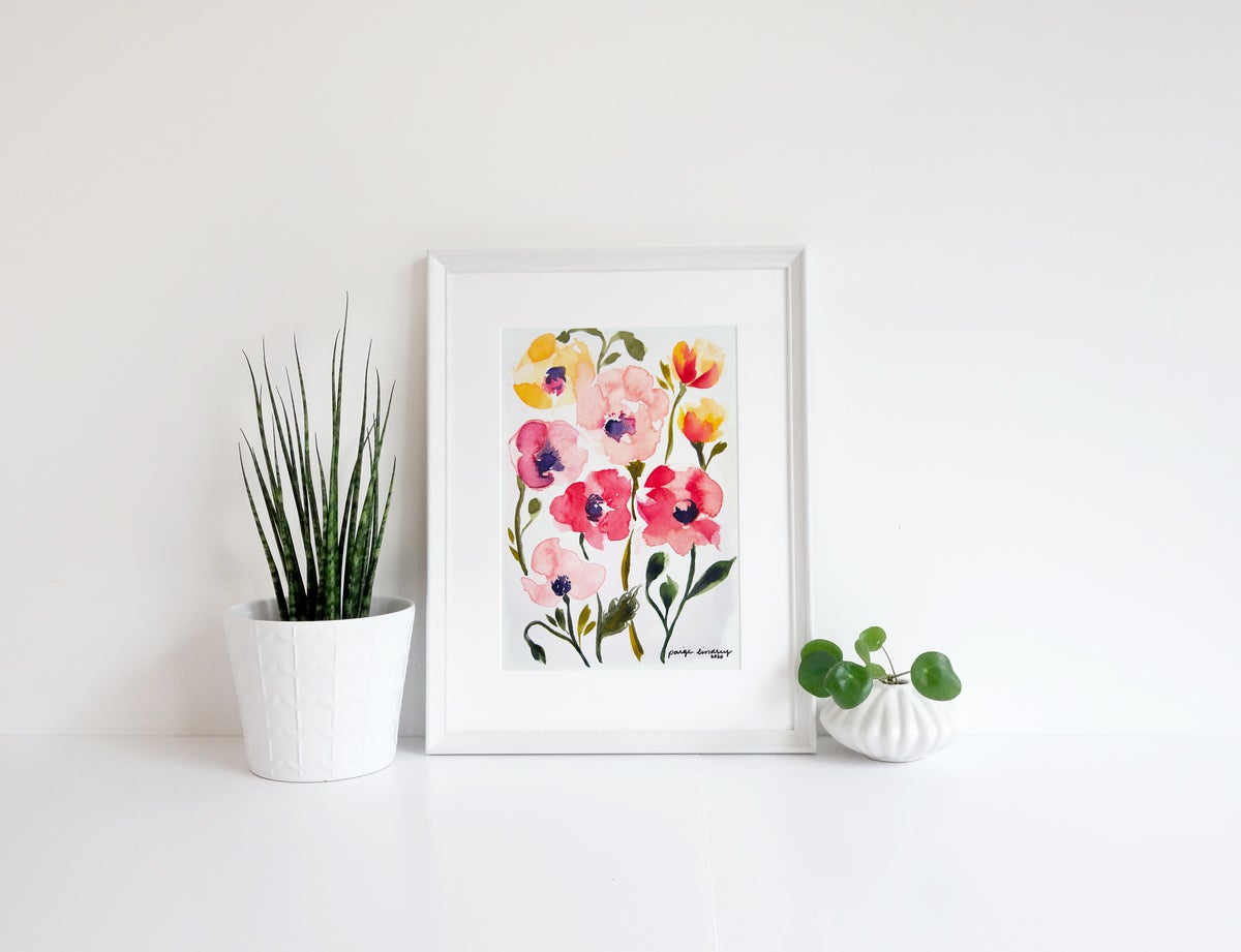 Image of Small Poppies Print