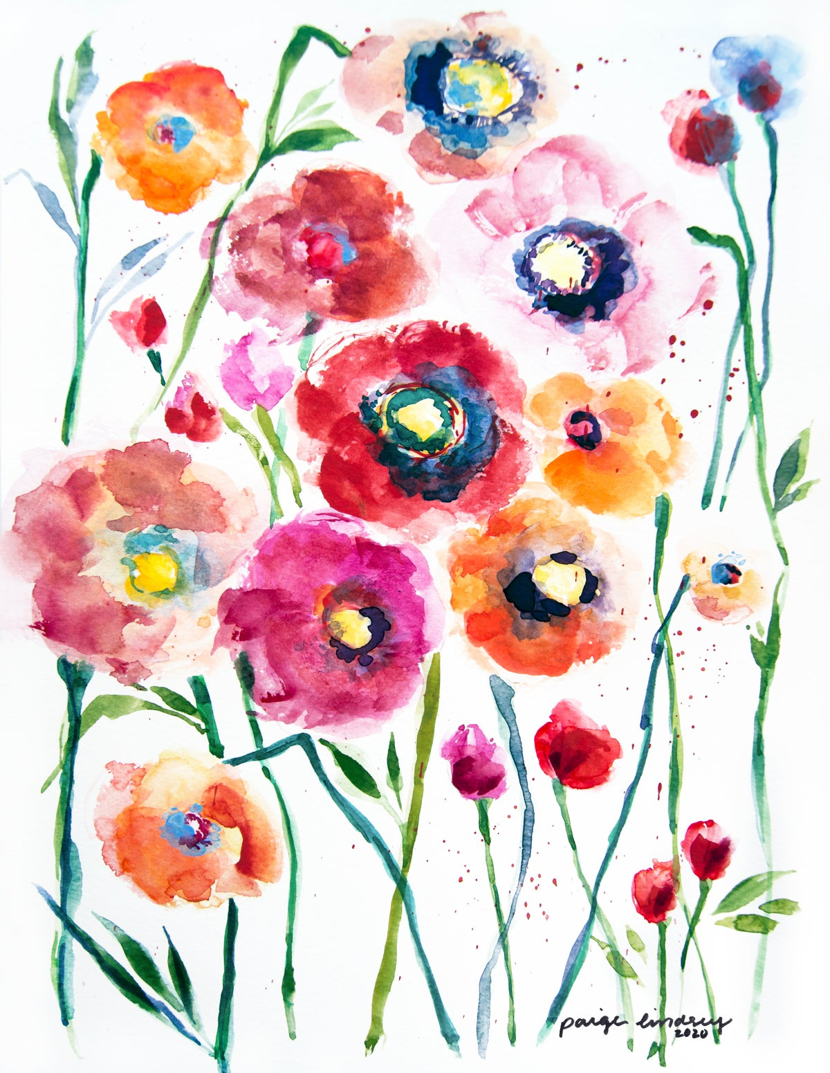 Image of Poppies Print II