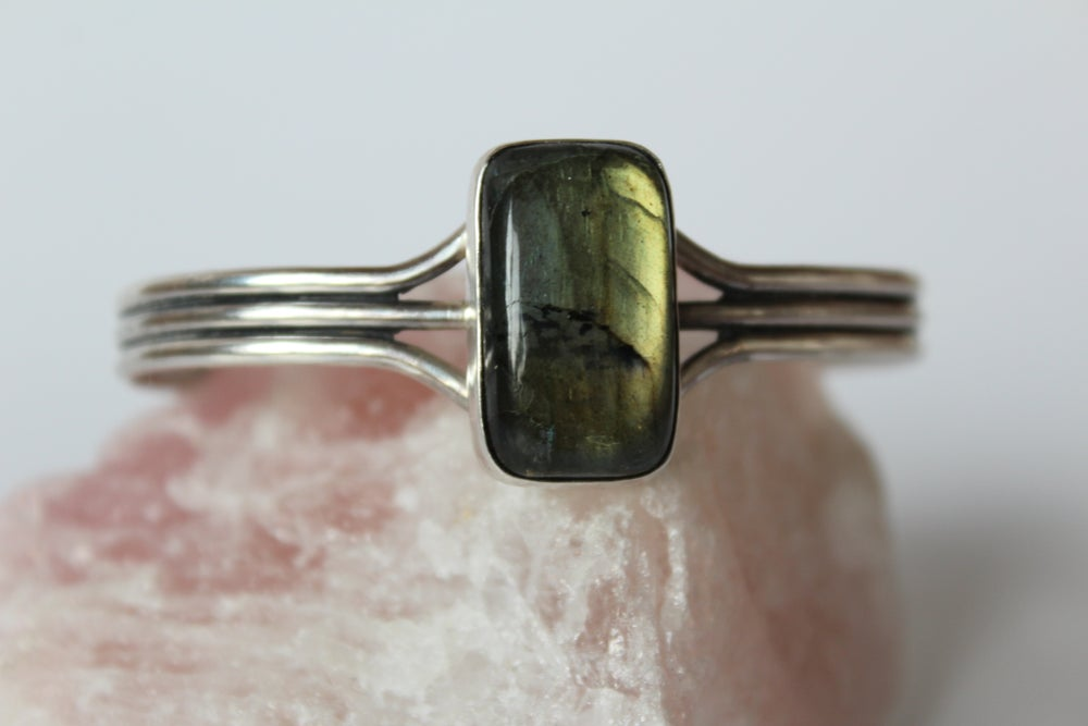 Labradorite Large Sterling Silver Cuff