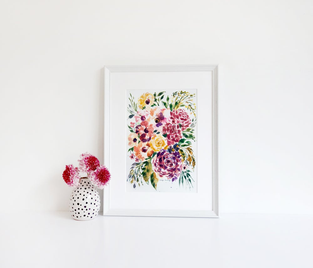 Image of Splash of Grenadine Flower Print
