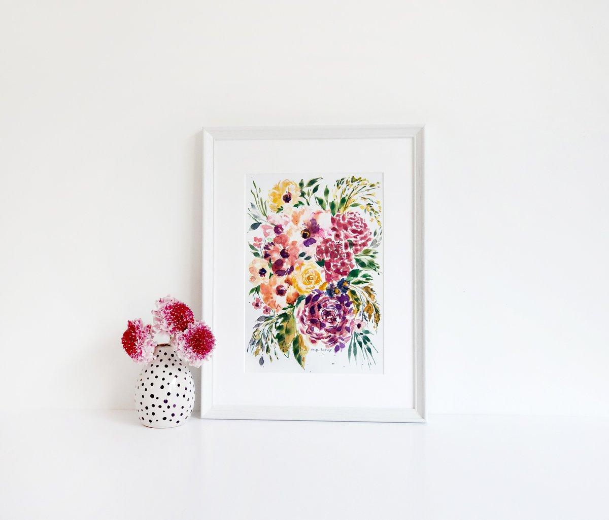 Image of Splash of Grenadine Flower Print