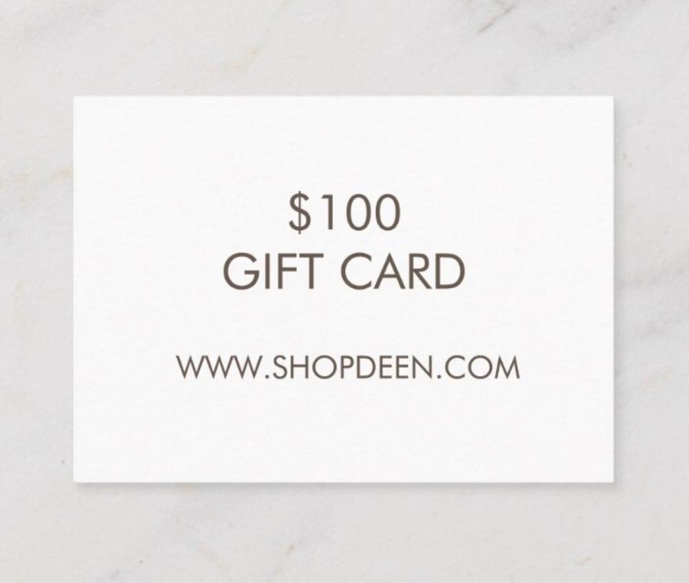 Image of $100 DEEN GIFT CARD
