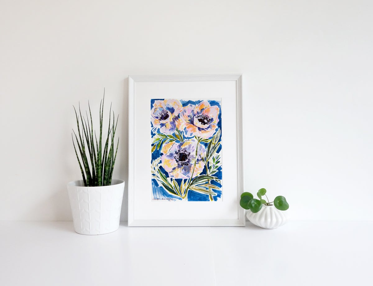 Image of Anemone Flower Print